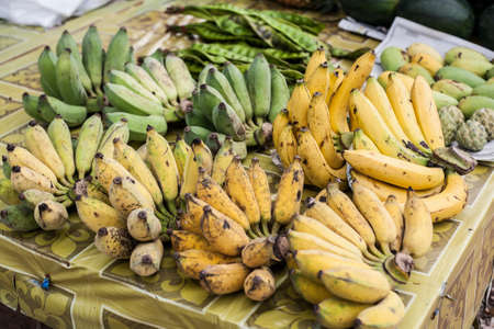 fruit market fresh banana Thailand photo