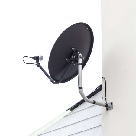 black color satellite on the house Stock Photo - 15430770
