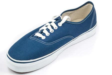 blue shoe on white background photo