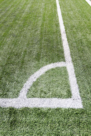 conner: football field conner line Stock Photo