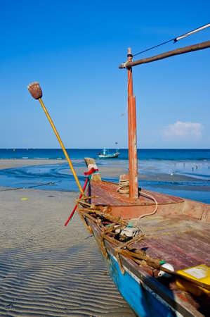 the boat  Hua Hin Fish pier Thailand