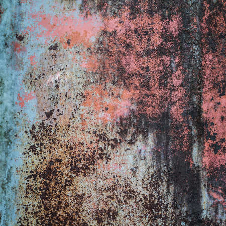 The abstract rusty metal background