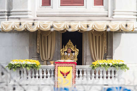 BANGKOK ,THAILAND - DECEMBER 5: Unidentified Hundreds of thousands of people thronged the Royal Plaza to help celebrate HM's 85th birthday; the King is the world's longest-reigning monarch. His Majesty ended his birthday speech delivered to all well-wishe Stock Photo - 16870702