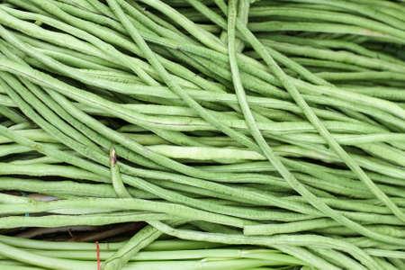 Yardlong beans in market Thailand