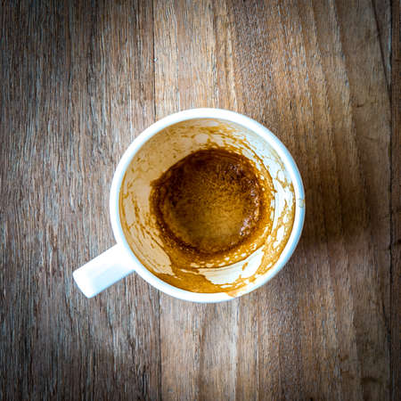 cup of coffee on wood background Stock Photo - 18105989