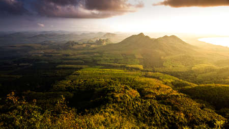 view from the din sor Hill Chompron province Thailand photo