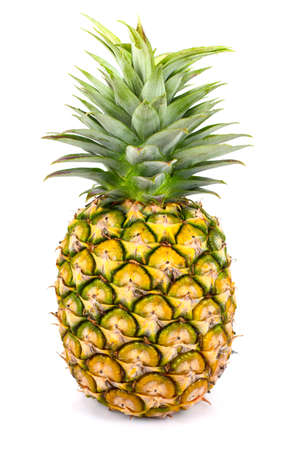 Fresh  pineapple on white background 版權商用圖片