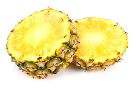 Fresh  pineapple on white background photo