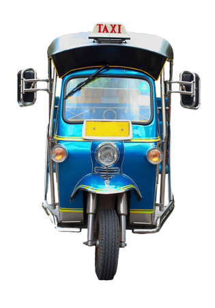 Thai traditional Tuk Tuk in Bangkok of Thailand  photo