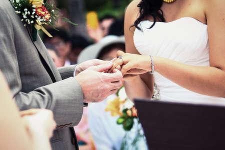 marry me , hands of a wedding heterosexual couple Stock Photo - 20617759