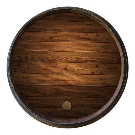 Wine barrels isolated white background