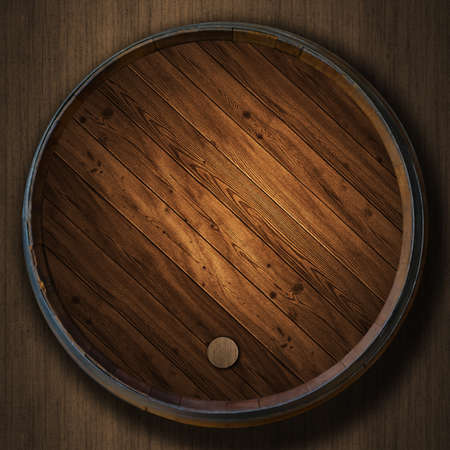 the Wine barrels wood background