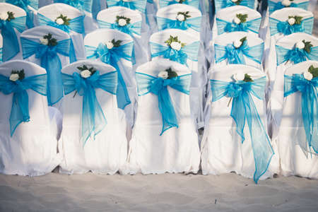 wedding chairs: Wedding chairs blue color