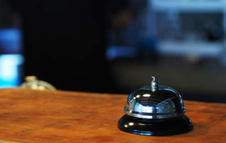 Elegant Ring Bell in the coffee shop photo