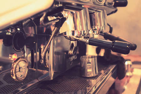 coffee machine in vintage color toned