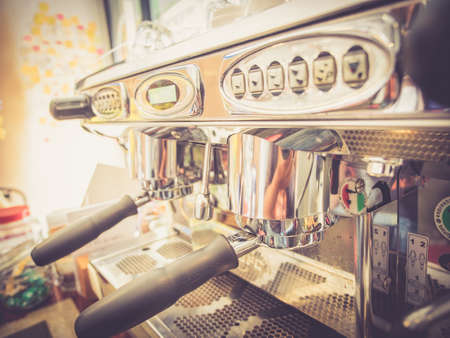 coffee machine vintage color
