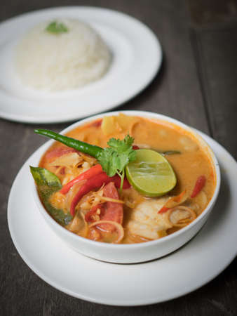 gung: Thai Food : Tom Yum soub seafood Stock Photo