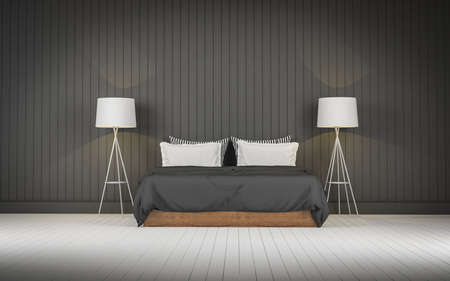 loft: Loft style bedroom 3d rendering
