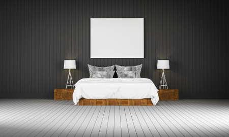 loft: Loft style bedroom 3d rendering