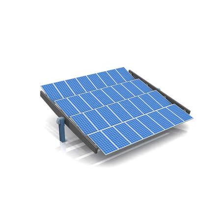 Solarzellen syetem 3d weißen Hintergrund-Rendering