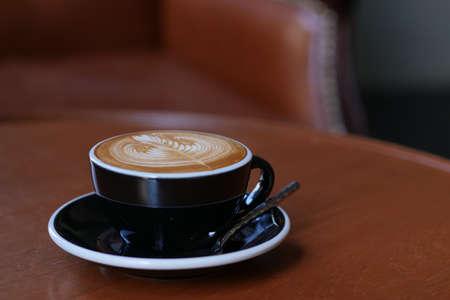 coffee latte art in coffee shop cafe