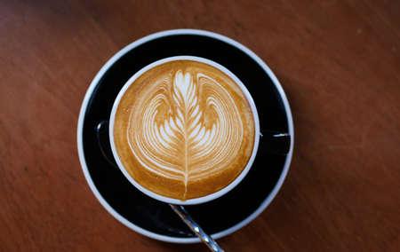 coffee latte art in coffee shop cafe 版權商用圖片 - 101307000