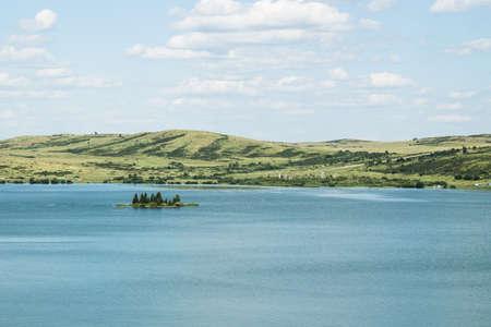 View of lake Beloe. Altai region, Russia.