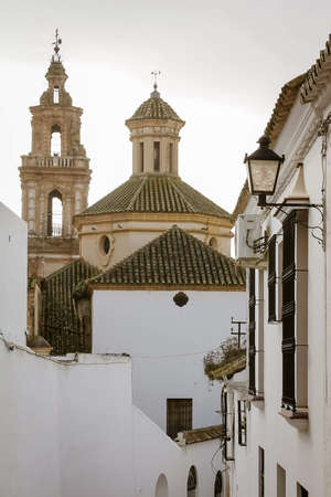 View of the church and the city of Osuna. Andalusia Spain.