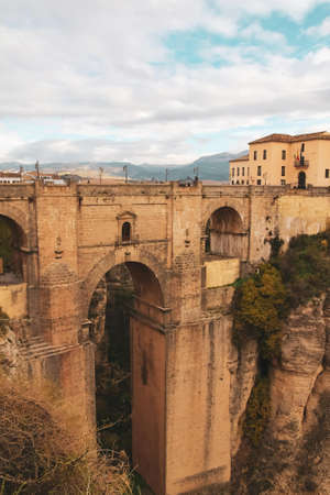 New bridge over the gorge in the city of Ronda, Spain