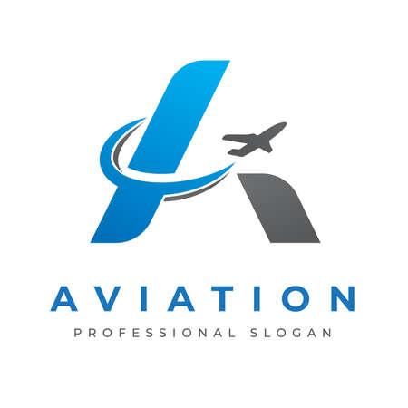 Aviation A Letter Illusztráció