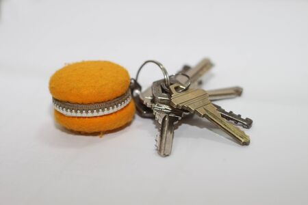 key chain: macaron key chain Stock Photo