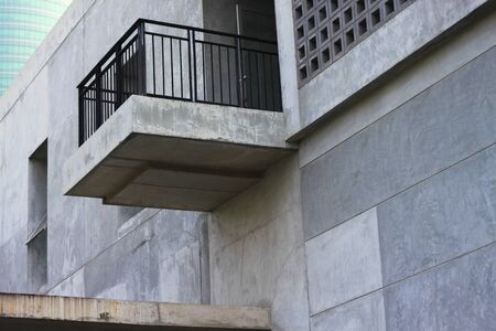 voids: balcony with security handrail