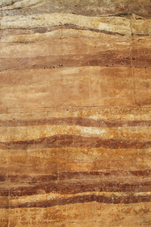 archtecture: rammed earth wall material texture Stock Photo