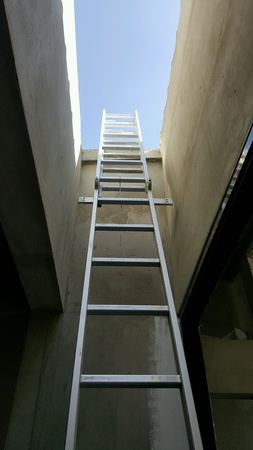 up: Making progress up to the clear blue sky using ladder