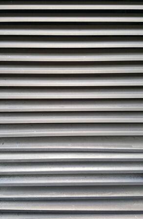 louver: grey aluminium louver texture Stock Photo