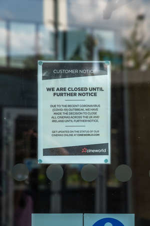 LONDON, ENGLAND - JUNE 26, 2020: Cineworld Cinema in South Ruislip, London closed during the COVID-19 lockdown ready for the restrictions to be relaxed 3 Sajtókép