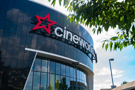 LONDON, ENGLAND - JUNE 26, 2020: Cineworld Cinema in South Ruislip, London closed during the COVID-19 lockdown ready for the restrictions to be relaxed 3