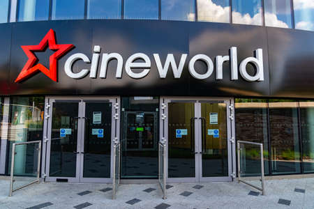 LONDON, ENGLAND - JUNE 26, 2020: Cineworld Cinema in South Ruislip, London, England closed during the COVID-19 pandemic - 025