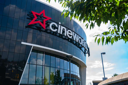 LONDON, ENGLAND - JUNE 26, 2020: Cineworld Cinema in South Ruislip, London, England closed during the COVID-19 pandemic - 023