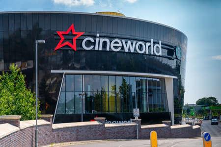 LONDON, ENGLAND - JUNE 26, 2020: Cineworld Cinema in South Ruislip, London, England closed during the COVID-19 pandemic - 047 Sajtókép