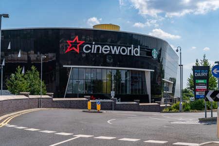 LONDON, ENGLAND - JUNE 26, 2020: Cineworld Cinema in South Ruislip, London, England closed during the COVID-19 pandemic - 001 Sajtókép