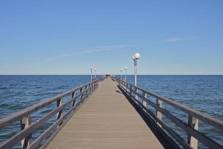 igrave: Wooden pier at Binz, Ruegen Island Stock Photo