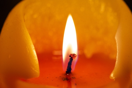 Burning candle Stock Photo - 15436083