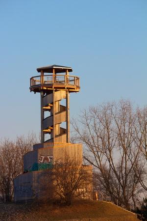seepark: Towerhill at Freiburg Seepark, Germany Editorial