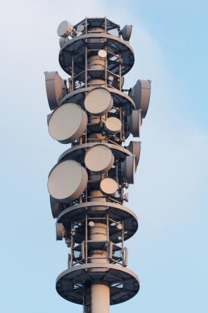 Closeup of a radio tower at dusk Stock Photo - 15445003