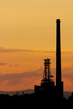 Karlsruhe Refinery in the evening sun photo