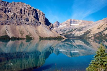 Amazing lake scenery of Bow Lake, Alberta, Canada