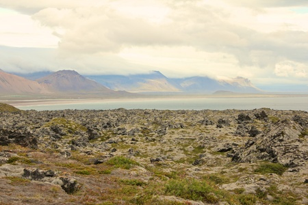 View over the volcanic plains of Snaefelsness peninsula on Iceland Stock Photo - 17744802