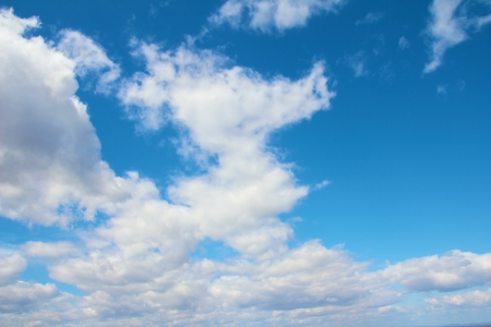 Light wihite clouds in a brightly blue sky for your composites and background work Stock Photo