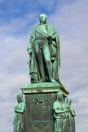 karlsruhe: Statue of Carl Friedrich von Baden, founder of the City of Karlsruhe, Germany